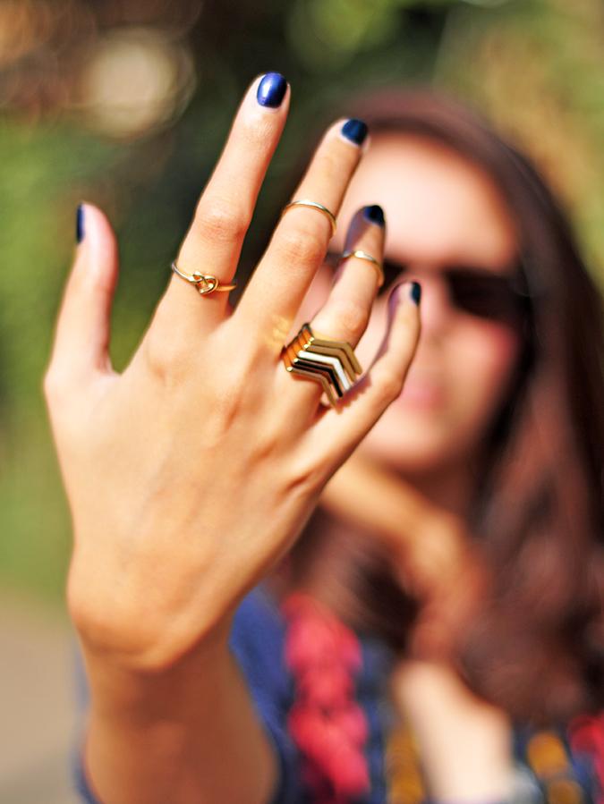 Futurist Blue - { #TieUpsStyle } | www.akanksharedhu.com | Rings