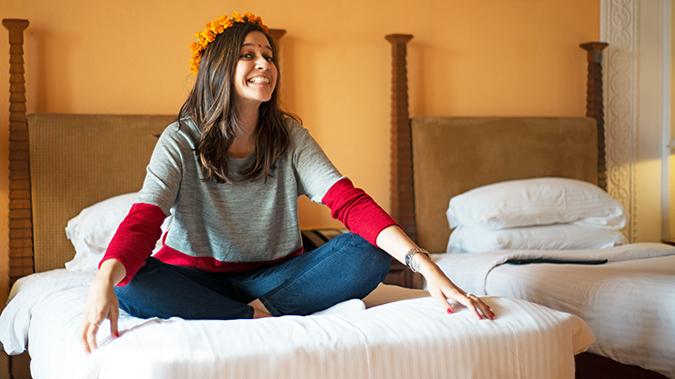 Jaipur | Le Méridien | Day 01 | www.akanksharedhu.com | Hippie on Bed