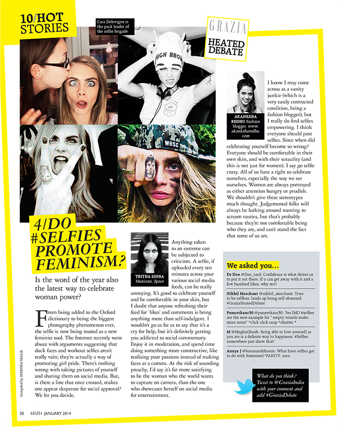 Grazia January 2014 Feature | www.akanksharedhu.com |