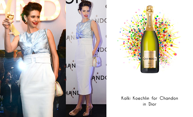 Chandon Launch | Moët & Chandon | www.akanksharedhu.com | #ChandonCelebrates - Kalki Koechlin