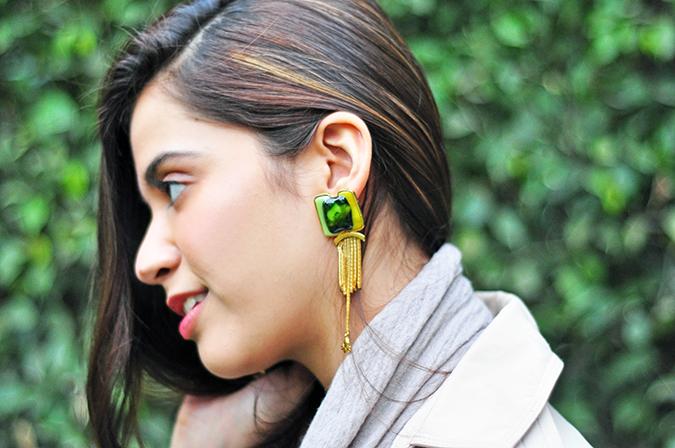 { Green - Day } | www.akanksharedhu.com | Earrings