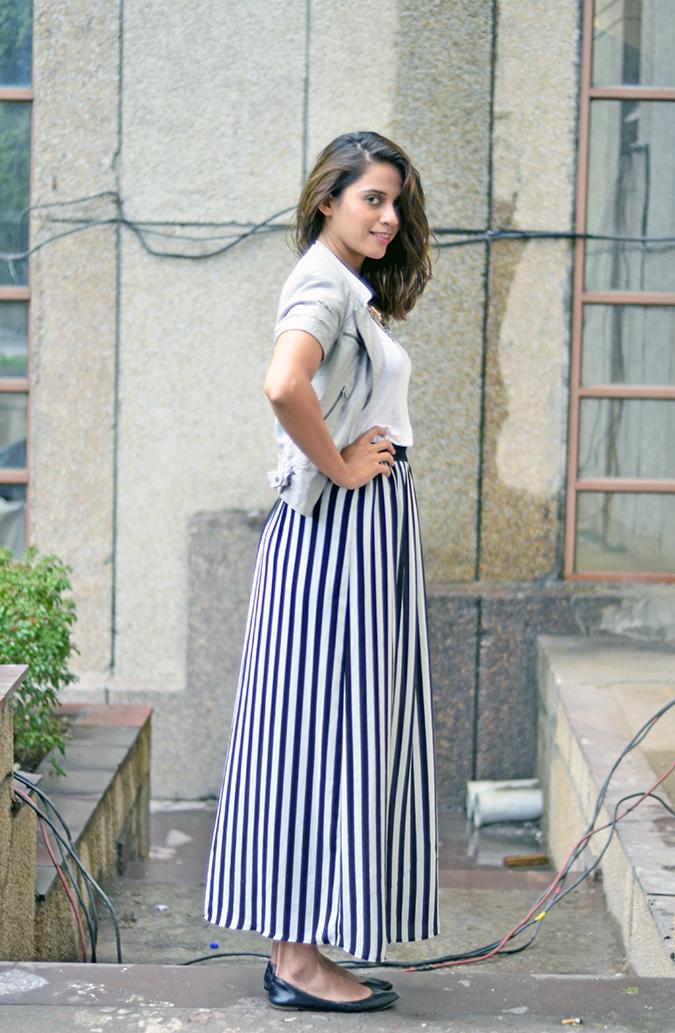 Wear Your Stripes | www.akanksharedhu.com | Side profile full