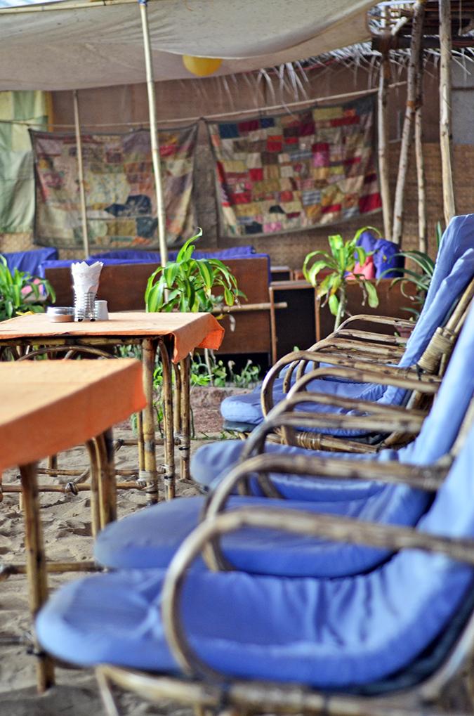 Agonda Beach | Goa | www.akanksharedhu.com | restaurant chairs