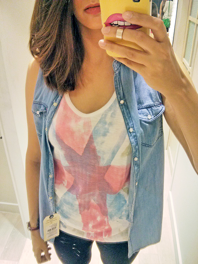 Pepe Jeans London | www.akanksharedhu.com | selfie in union jack + denim