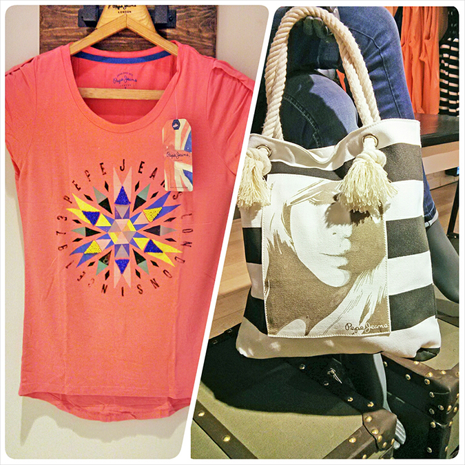 Pepe Jeans London | www.akanksharedhu.com | coral tee + bag