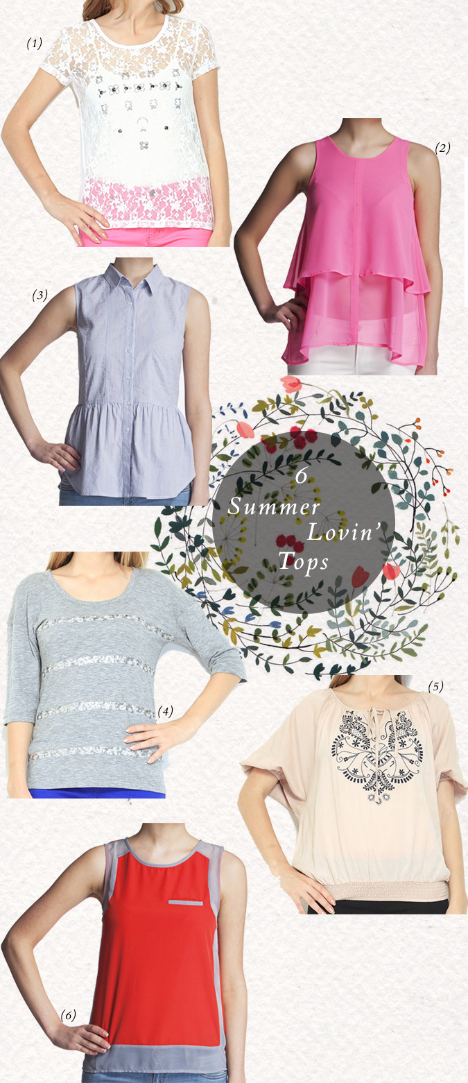 6 Summer Lovin' Tops | SBUYS | www.akanksharedhu.com |