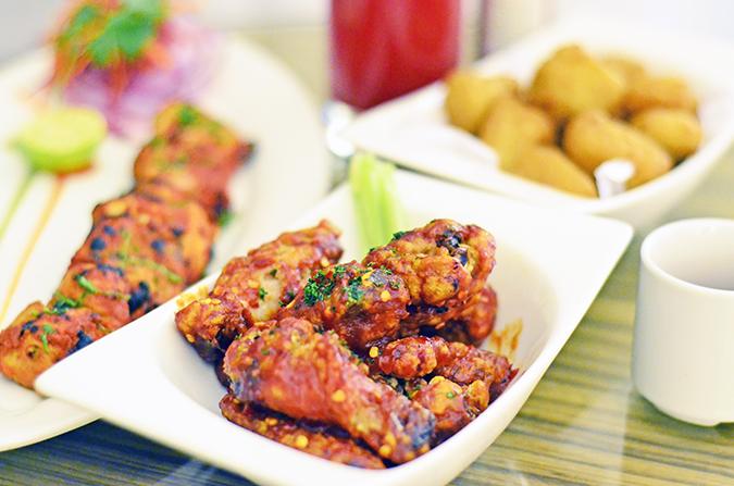 Weekend Getaway   Courtyard Marriott Gurgaon   chicken wings