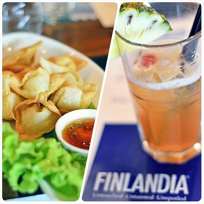 Vodka Escapade | Finlandia | www.akanksharedhu.com | food and pineapple cocktail