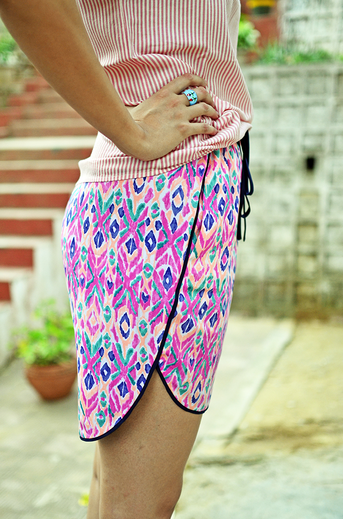 Stripes + Print | www.akanksharedhu.com | side full skirt