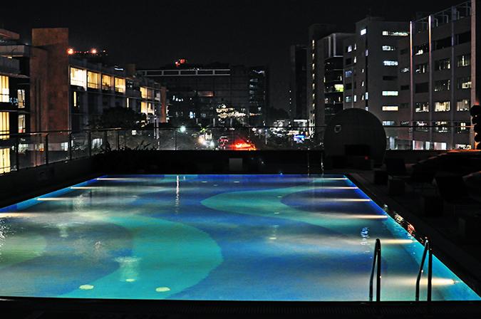 Aloft Hotels | www.akanksharedhu.com | pool by night