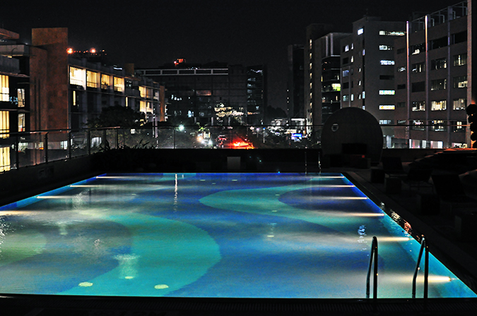Aloft Hotels | www.akanksharedhu.com | pool by night