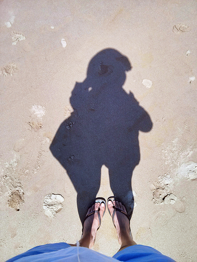 Gokarna | www.akanksharedhu.com | shadow on beach