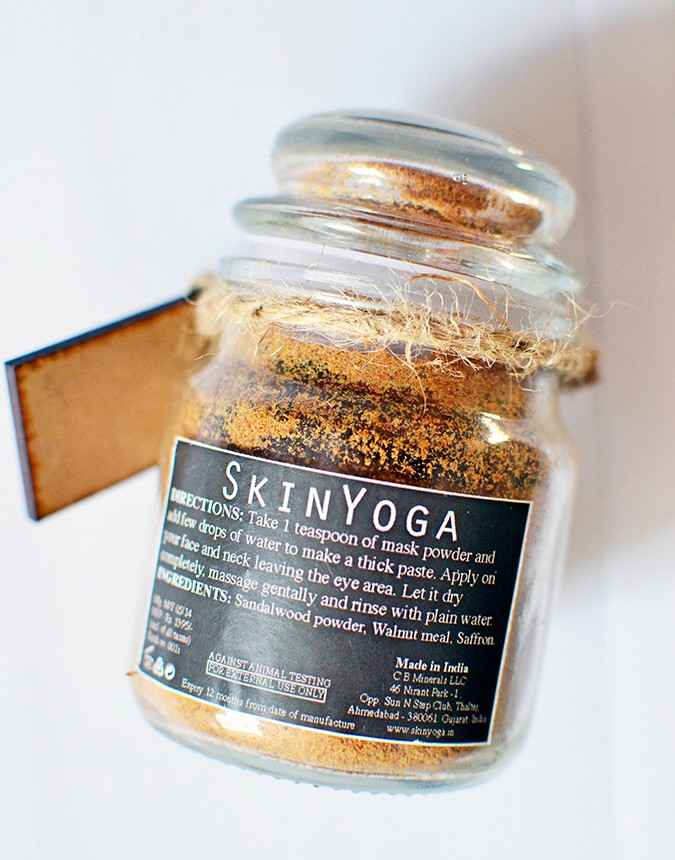 SkinYoga | www,akanksharedhu.com | saffron face mask back