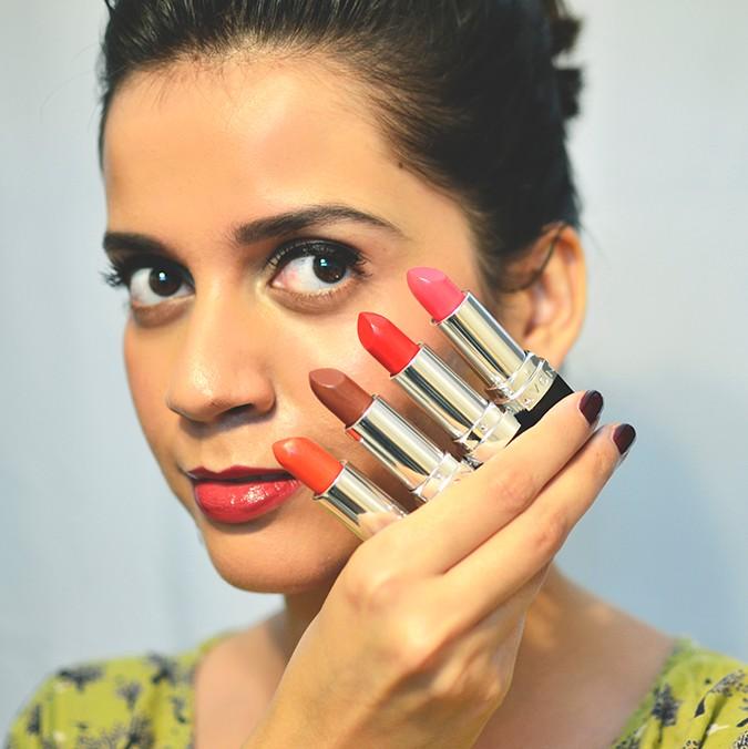 Avon India | www.akanksharedhu.com | lipsticks against face