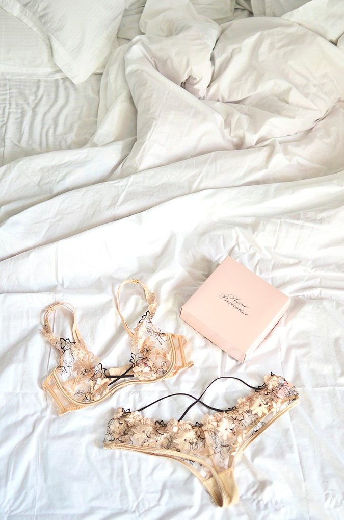 Off Days | Agent Provocateur | pieces on bed