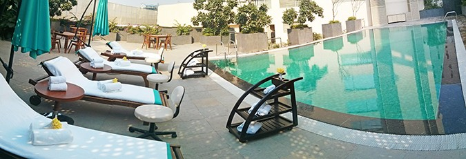 Weekend Getaway | Anya Gurgaon | www.akanksharedhu.com | pool pano