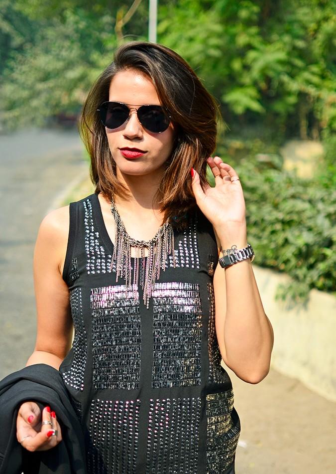 Marquee by Vero Moda | www.akanksharedhu.com | half front jacket off
