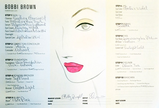 Perfect Skin Makeup Lesson | Bobbi Brown | www.akanksharedhu.com | makeup sheet