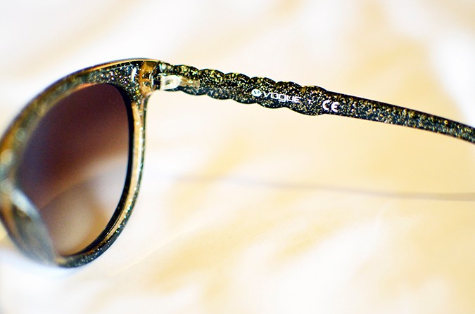 Stardust | Vogue Eyewear | Akanksha Redhu | closeup glasses glitter