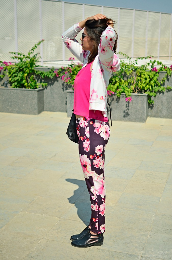 Sunny Winter Florals | Akanksha Redhu | side full jacket
