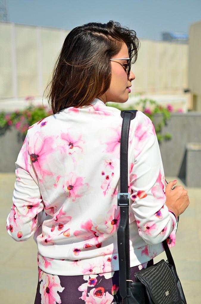 Sunny Winter Florals | Akanksha Redhu | back half jacket