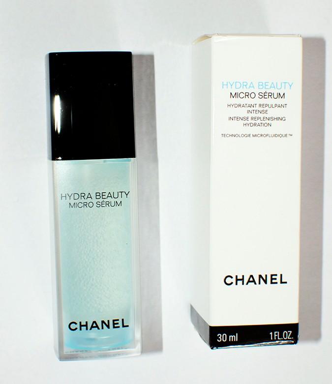 Hydra Beauty Micro Serum | Chanel | Akanksha Redhu | bottle with carton front