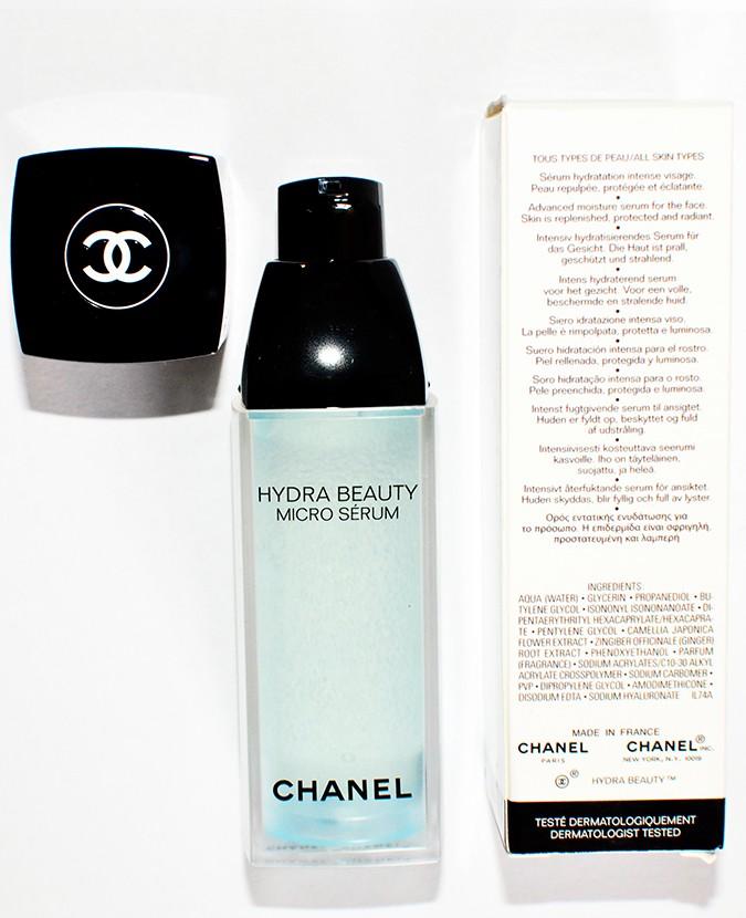 Hydra Beauty Micro Serum | Chanel | Akanksha Redhu | bottle with carton back