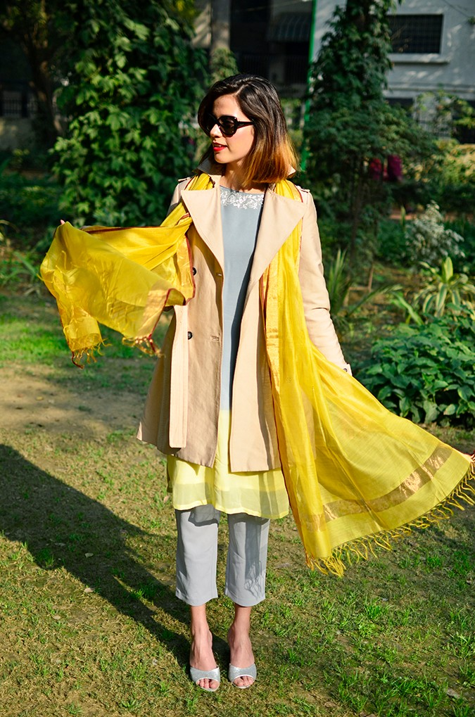 Indo-Western Style | Kokum | Akanksha Redhu | full front dupatta flying