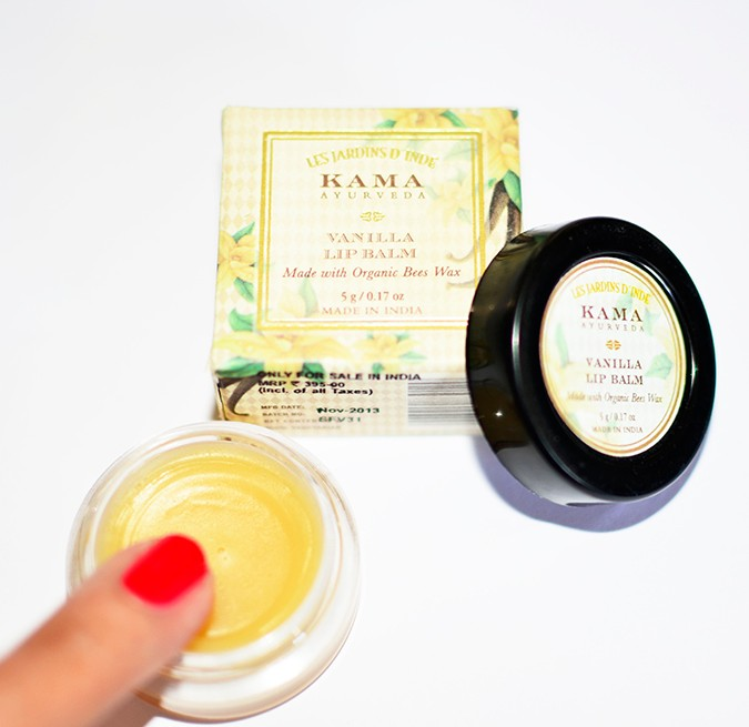 Current Favorites | Kama Ayurveda | Akanksha Redhu | lip balm finger