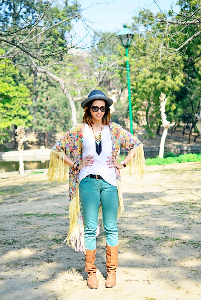 Hippie Kimono | Akanksha Redhu | full front hands on waist