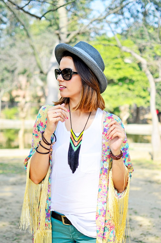 Hippie Kimono | Akanksha Redhu | half front both hands up