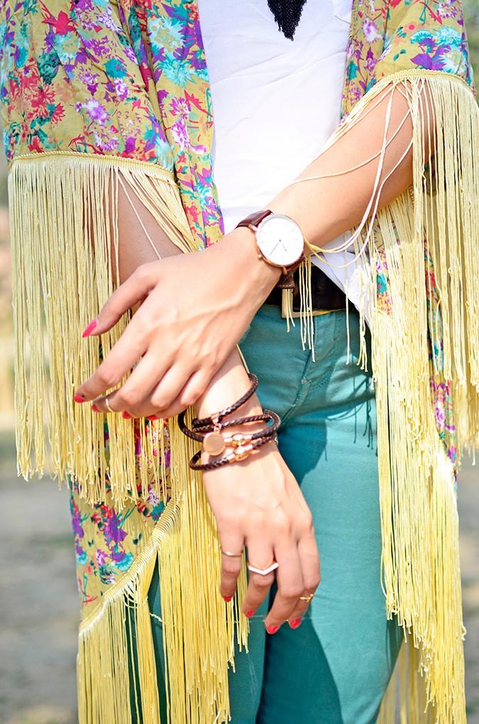 Hippie Kimono | Akanksha Redhu | tassel details