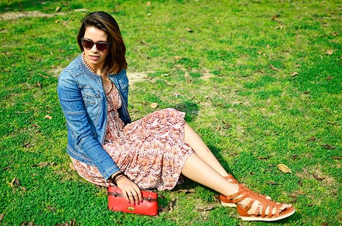 Denim + Animal Print | Akanksha Redhu | sitting only grass