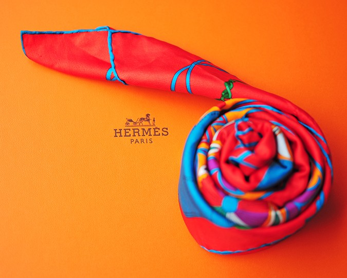Folklore | Hermes | Akanksha Redhu | rolled scarf on box