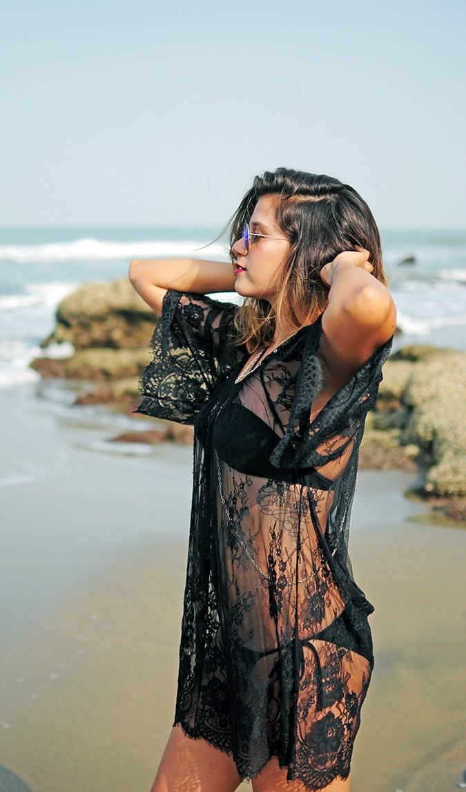 Sheer Bliss | Goa | Akanksha Redhu | half side arms raised