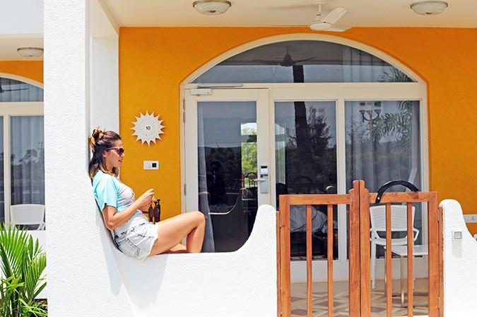 Acron Waterfront Resort | Goa | Akanksha Redhu | me sitting outside room
