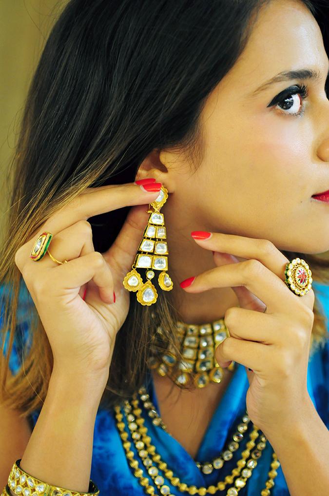 Marwari Weddings | Tanishq | Akanksha Redhu | wearing polki earring