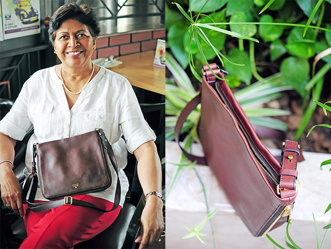 Mother's Day with Fossil | Akanksha Redhu | bag in moms lap & details