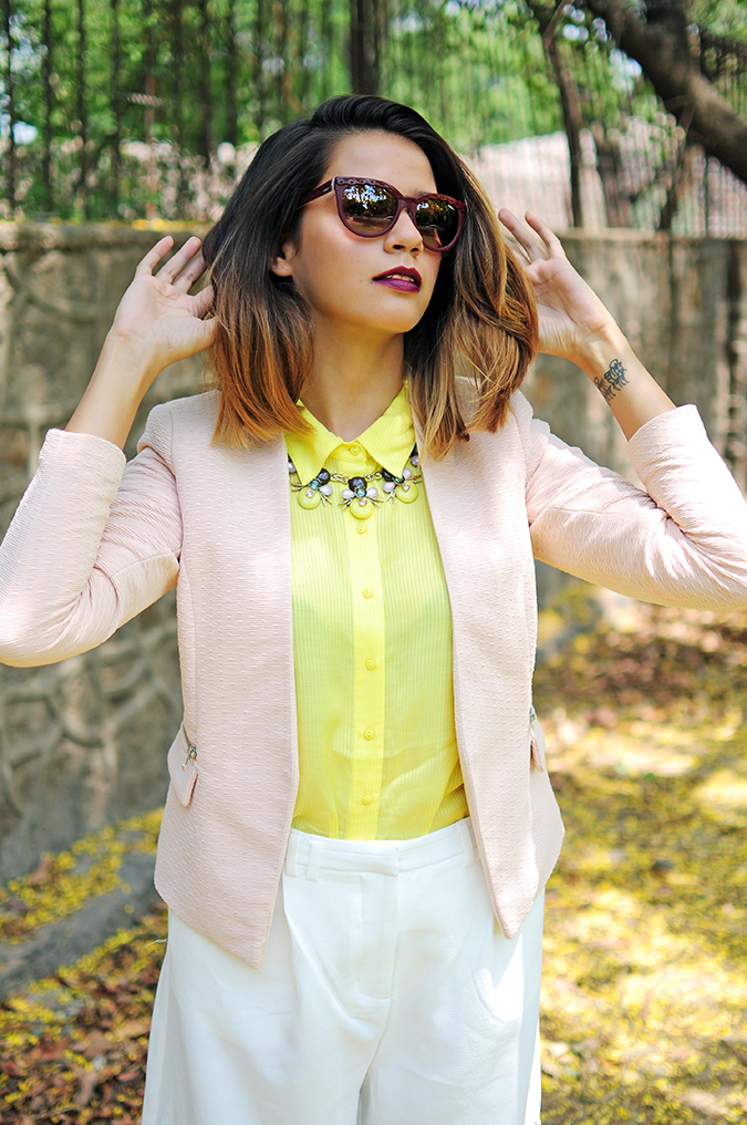 How To Style: Blazers 101 | Akanksha Redhu | half front arms up