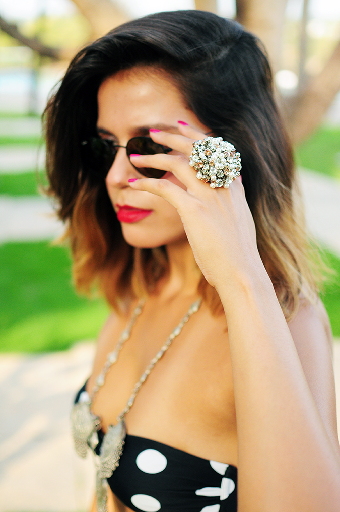 Polka Silver | Look of the Day | Akanksha Redhu | ring focus face