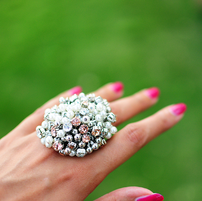 Polka Silver | Look of the Day | Akanksha Redhu | ring