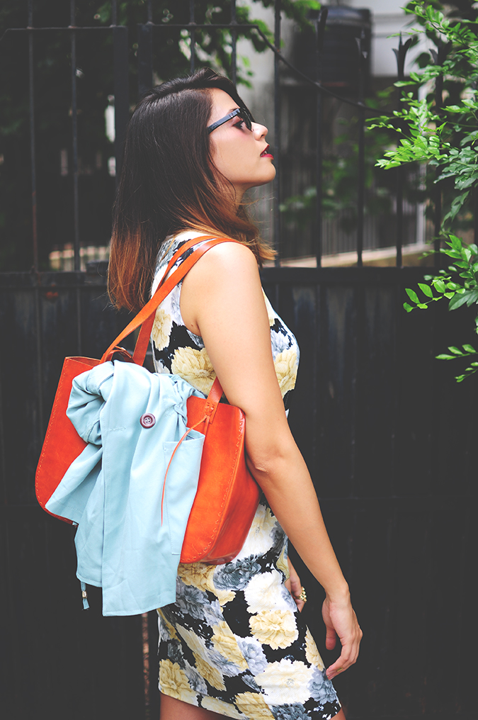 Not Too Dressy | #ootd | Akanksha Redhu | half side  jacket in bag