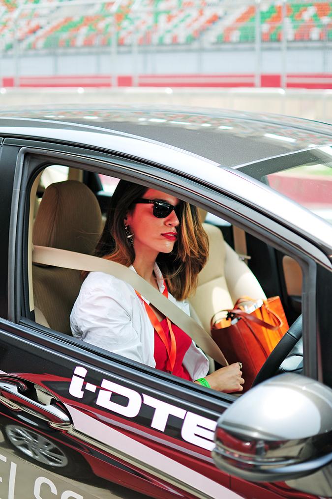 #AllNewJazz   Honda   Akanksha Redhu   seated in car out