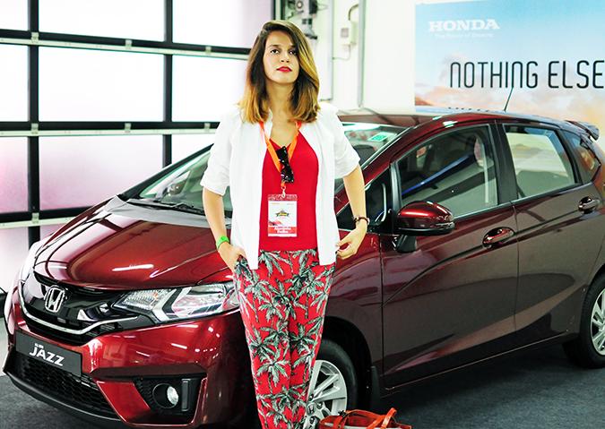 #AllNewJazz | Honda | Akanksha Redhu | leaning against car indoors