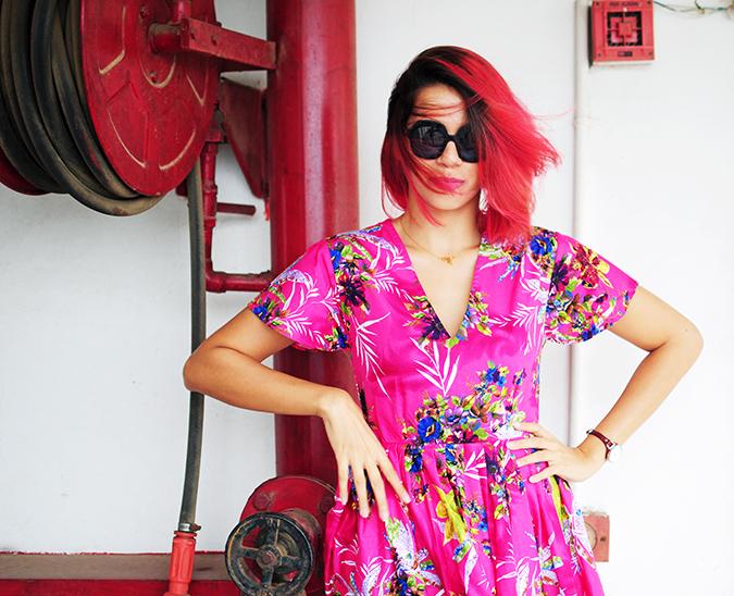 Pink Bloom | #ootd | Akanksha Redhu | half front wide