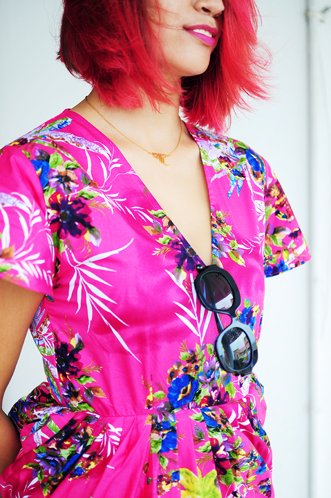 Pink Bloom | #ootd | Akanksha Redhu | half front face cut