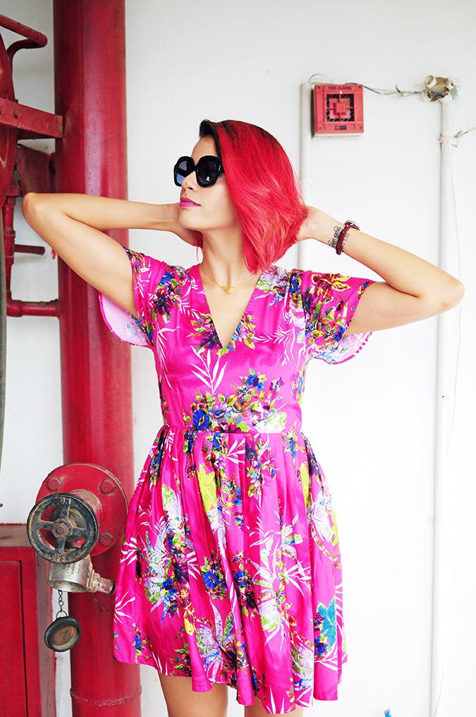 Pink Bloom | #ootd | Akanksha Redhu | half front arms up