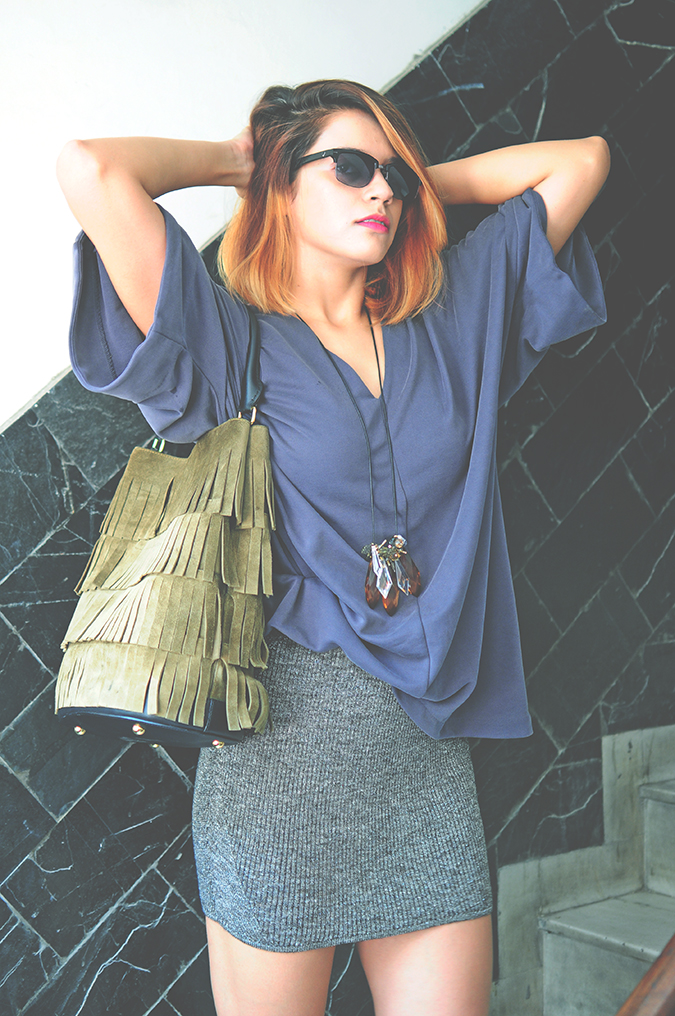 Burberry Bucket Bag | Akanksha Redhu | #ootd | front half arms up