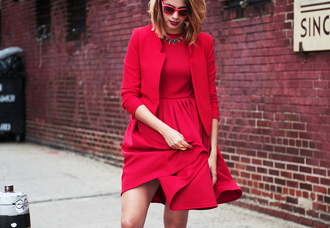 Ludlow Street |New York City | #RedhuxNYC |  dress swing wide
