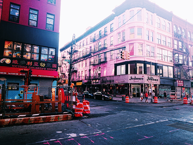 New York City | #RedhuxNYC | pink building